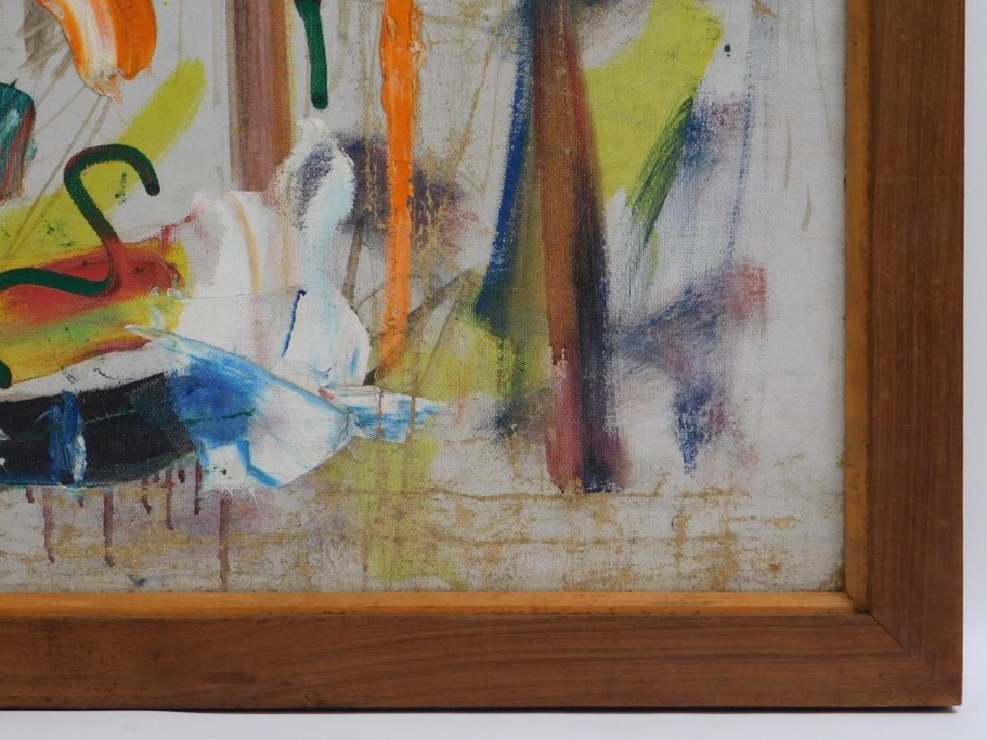 Taro Yamamoto Landscape #4 Abstract O/C Painting - 5