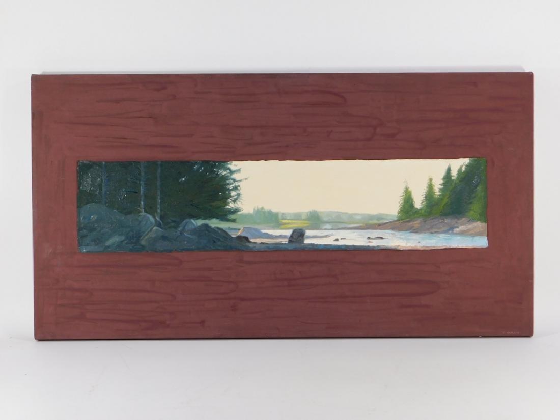 Conley Harris O/C River Landscape Painting