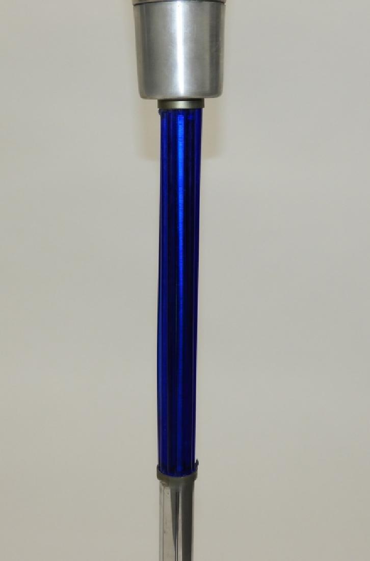 PR MCM Chrome Cobalt Glass Art Deco Floor Lamps - 5