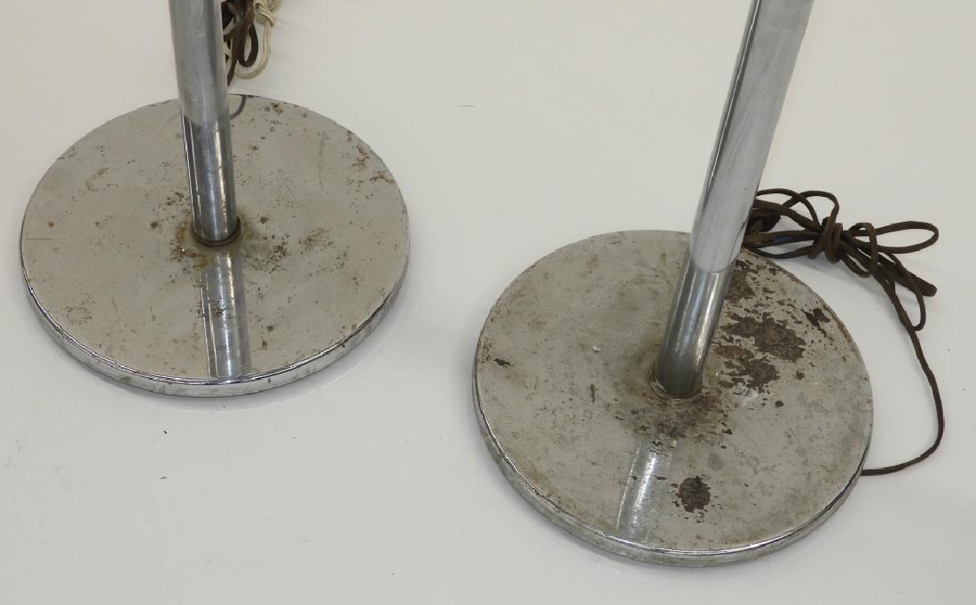 PR MCM Chrome Cobalt Glass Art Deco Floor Lamps - 6