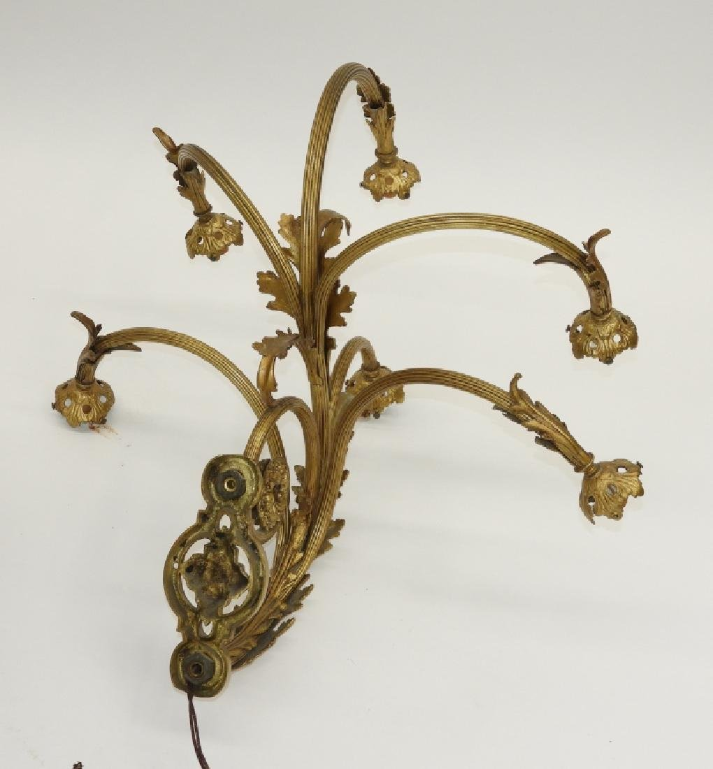 PR French Louis XV Style Gilt Bronze Wall Sconces - 7