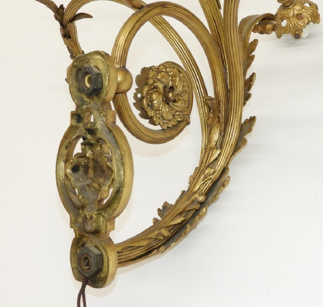 PR French Louis XV Style Gilt Bronze Wall Sconces - 8