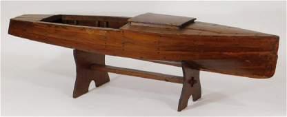 Vintage ChrisCraft Wood Boat Pond Ship Boat Model