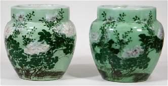 PR Antique Chinese Celadon Porcelain Jardinieres