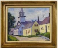 Richard Everett Bishop Rockport Mass OC Painting