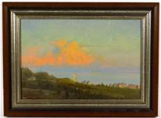 American Impressionist Sunset Landscape Painting