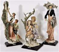 3PC Giuseppe Armani Designer Resin Sculptures