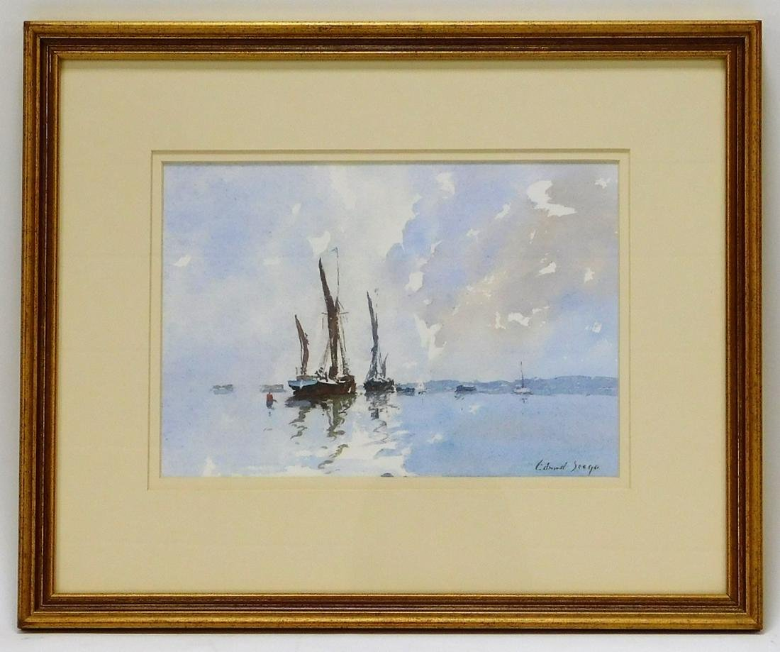 Edward Brian Seago Barges on the Thames Painting