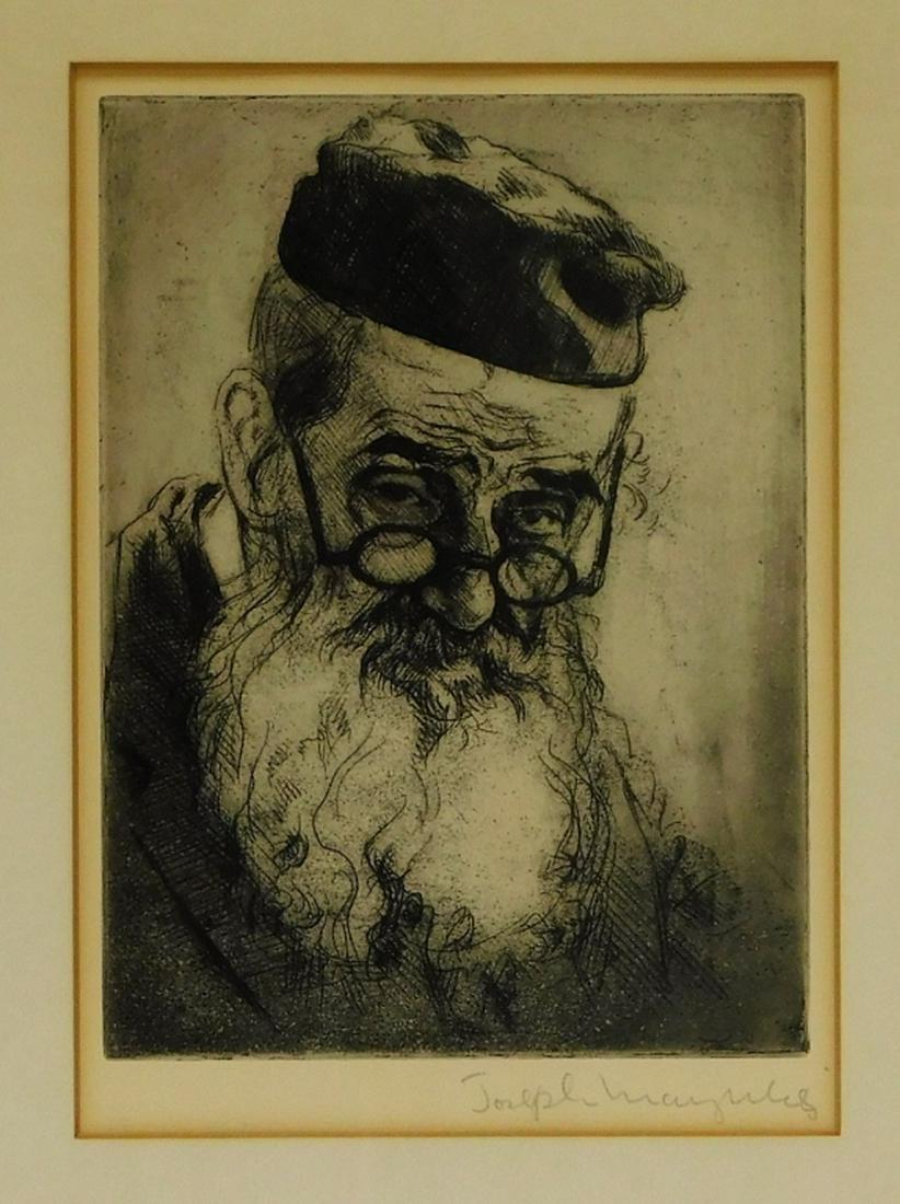 Joseph Margulies Old Philosopher Aquatint Etching