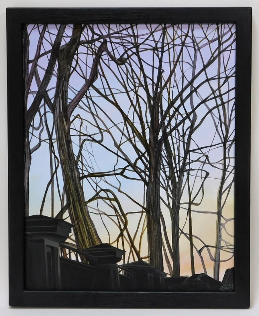 Pamela Redick Rhode Island Sun Set Street Painting