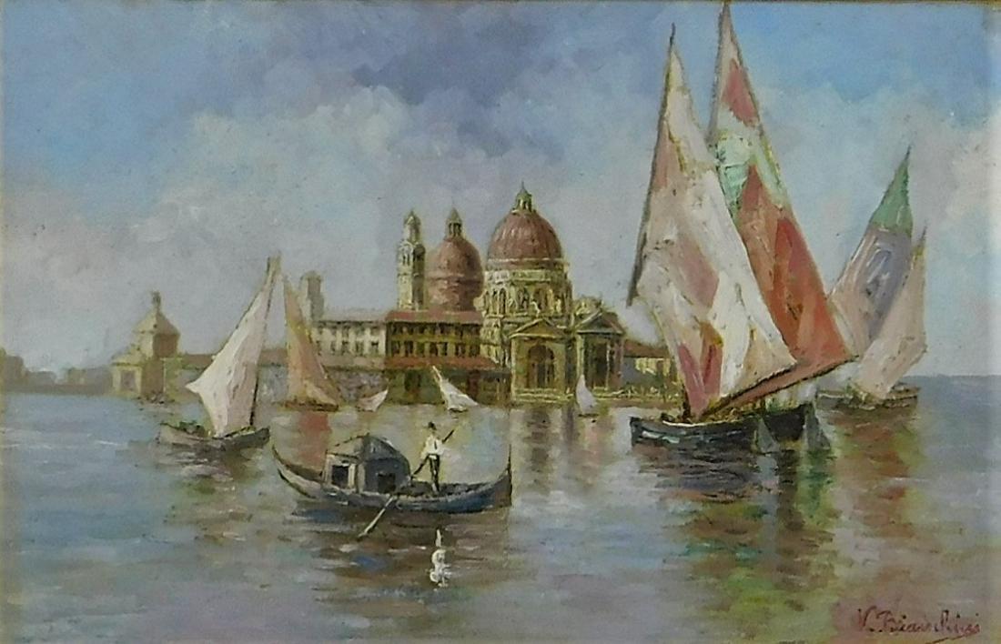 Victorio Bianchini Impressionist Venetian Painting