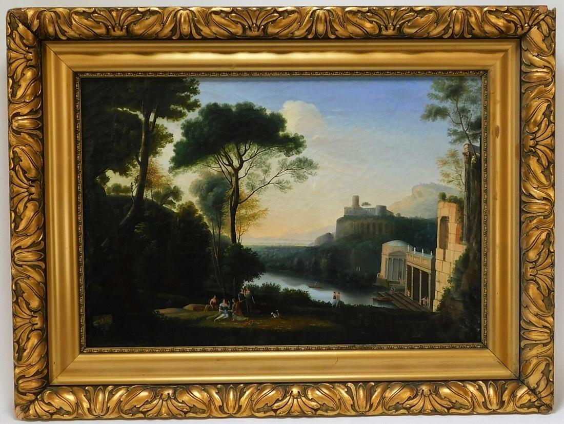 Italian Classical Illuminated Landscape Painting