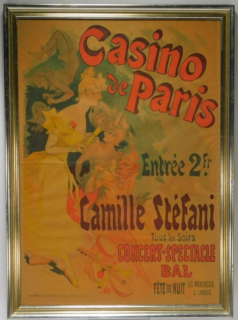 Jules Cheret Art Nouveau Casino de Paris Poster