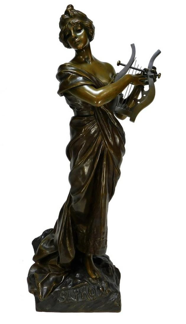 Emmanuel Villanis Art Nouveau Sapho Bronze Model