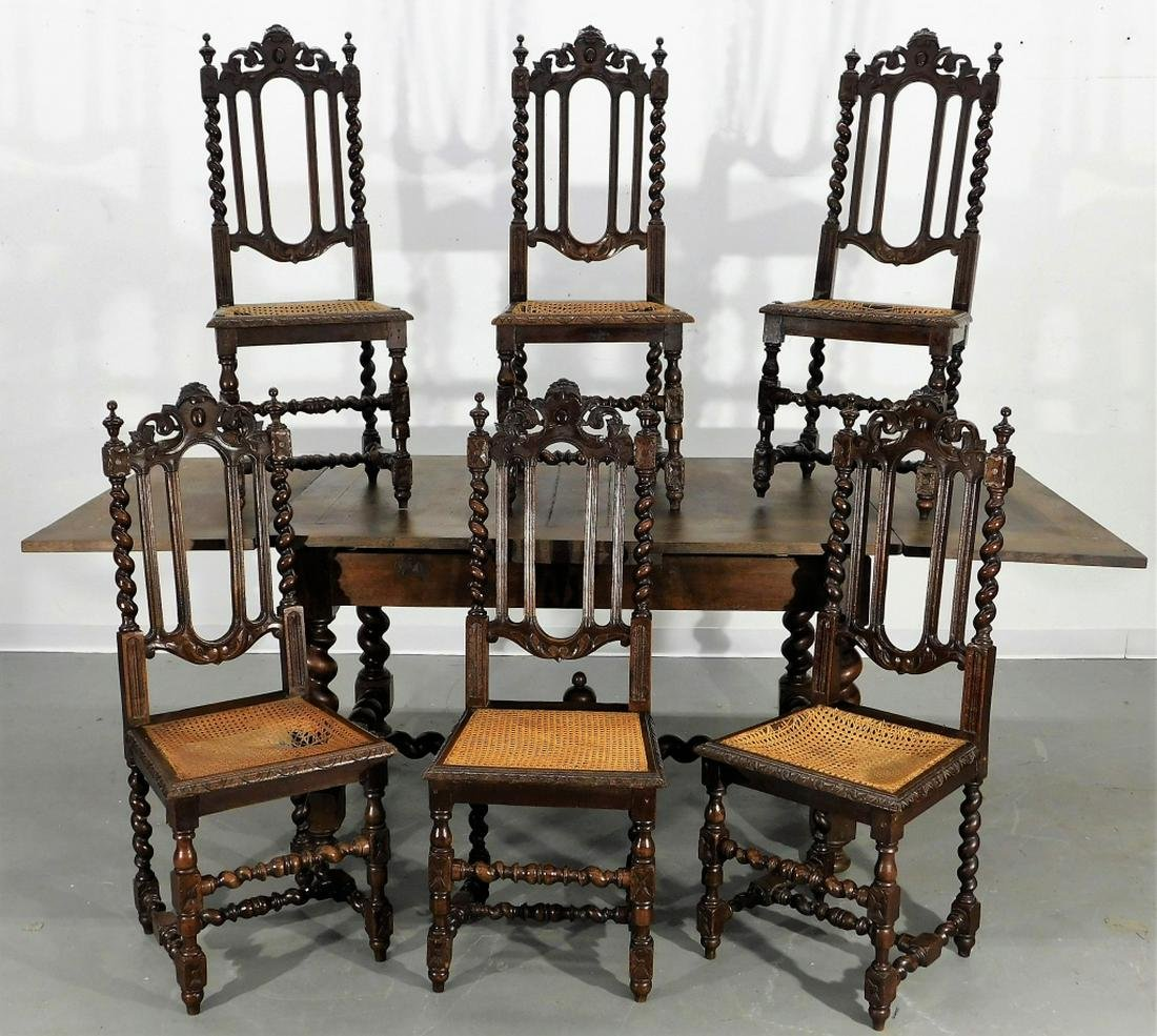 English Country Oak Dining Table & Chairs