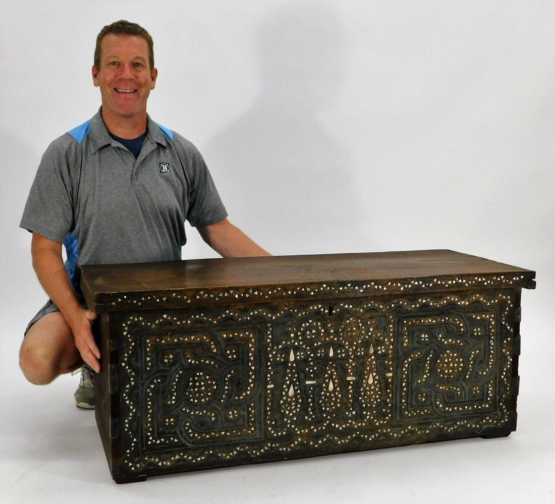Middle Eastern Anglo-Indian MOP Camphor Chest