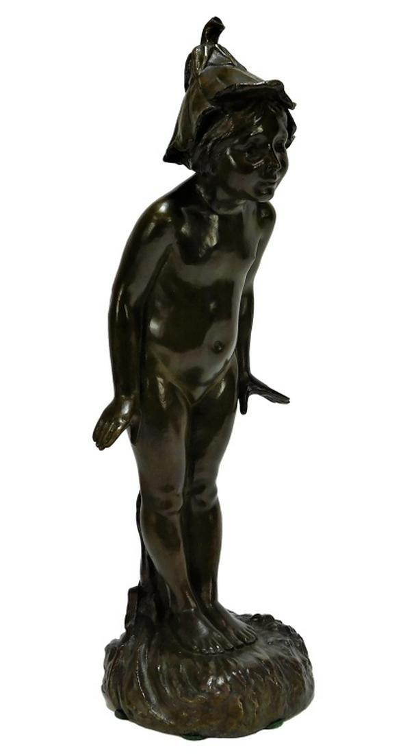 Edward Berge Wildflower Bronze Sculpture of Pixie