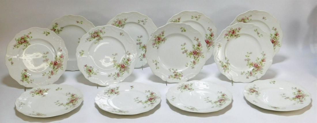 12PC John Haddock & Sons Apple Blossom Plates
