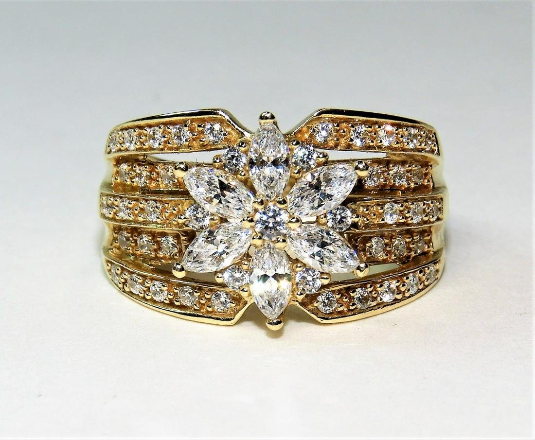 Estate 14K Gold Lady's Cubic Zirconia Cluster Ring