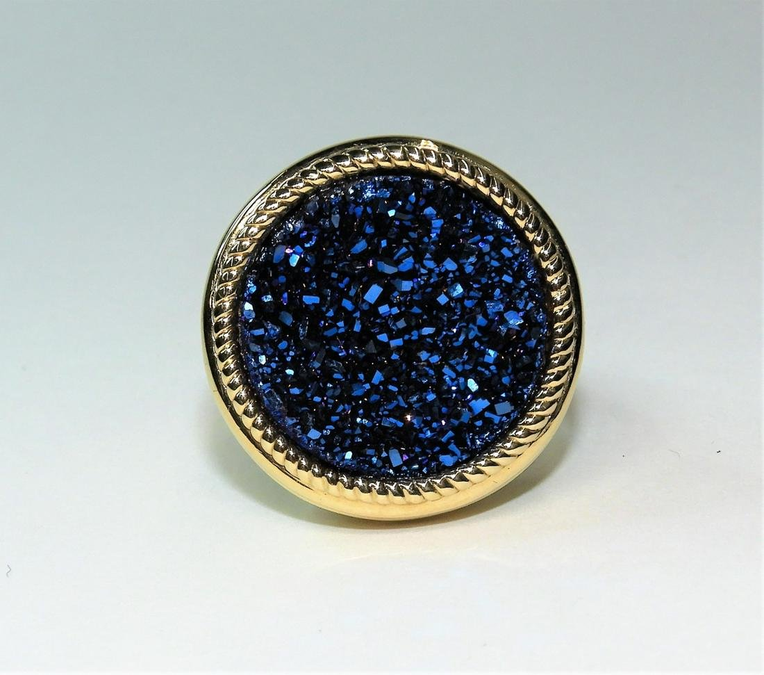 Estate 14K Gold Lady's Raw Spinel Cluster Ring