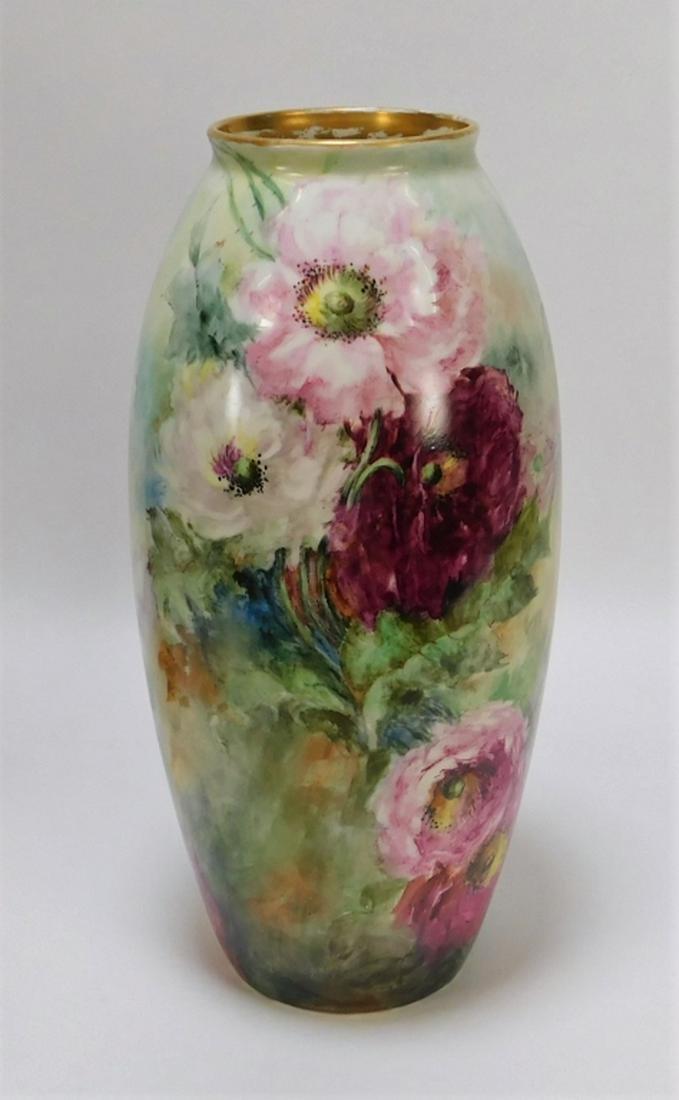 American Belleek Porcelain Tea Roses Vase