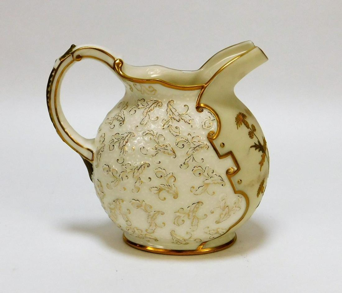 American Belleek Porcelain Thistles Leaves Creamer