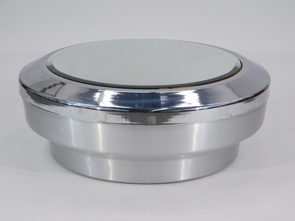RARE LG Gj Neville Canister Drum Coffee Table