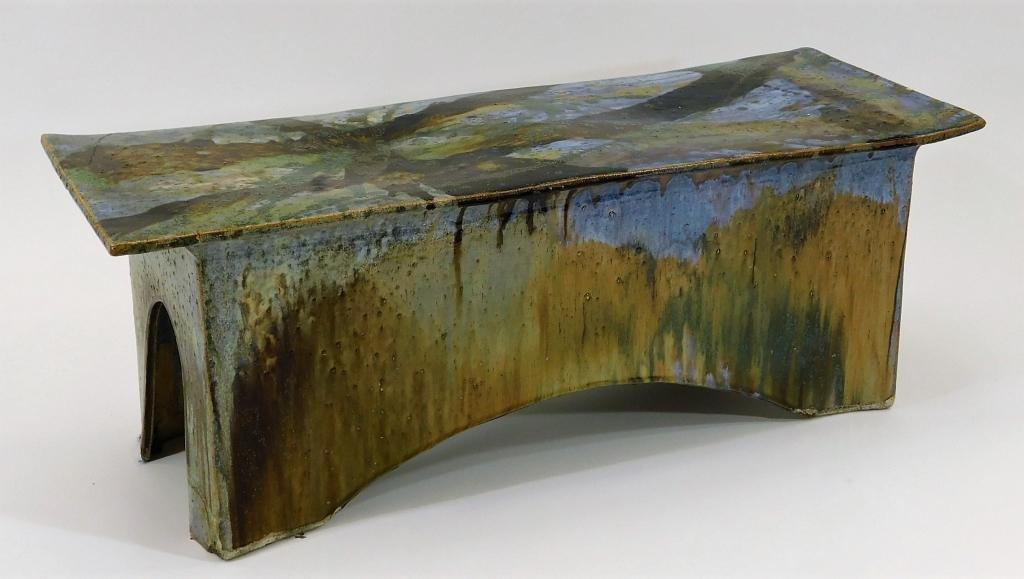 Eric O'Leary Vibrant Flambe Glaze Ceramic Bench