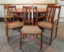 MCM Danish Modern Rasmus Dining Table & Chairs