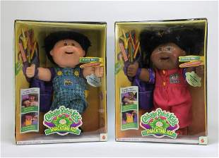2PC 1995 Mattel Snack Time Cabbage Patch Kids MISB