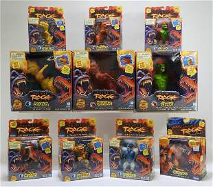 10PC 1994 Playmates Primal Rage MISB Toy Group
