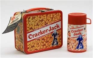 Aladdin Cracker Jack Tin Lunch Box Thermo Bottle