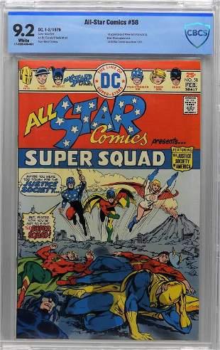 DC Comics AllStar Comics 58 CBCS 92