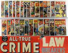 27PC Golden Age Criminal Police Crime Comic Group