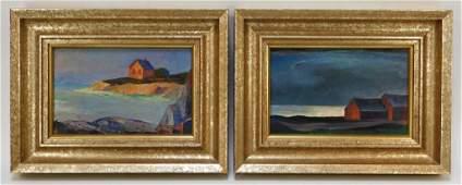 2PC Robert Wade Impressionist Coastal Paintings