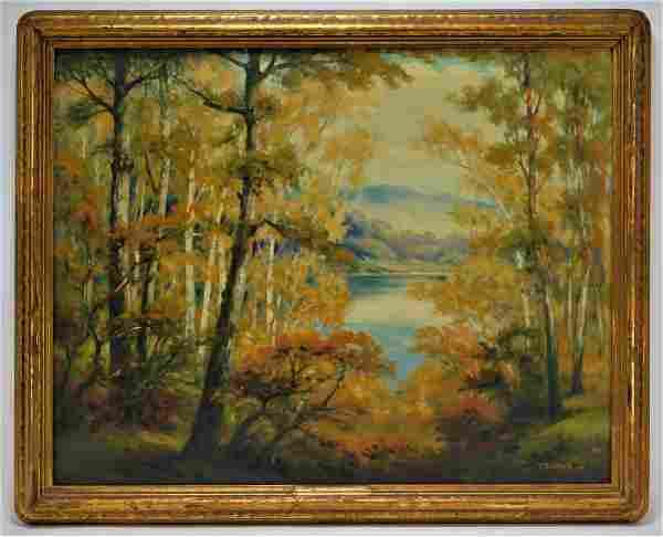 New England Illuminated O/C Landscape Painting