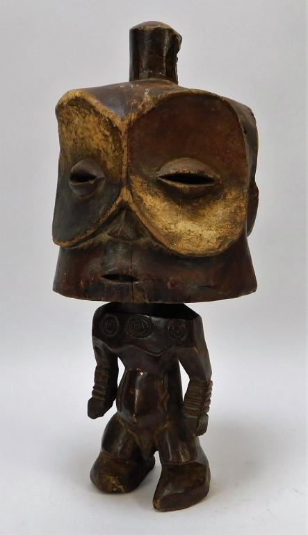 African Tribal Carved Wood Effigy Figure Statue