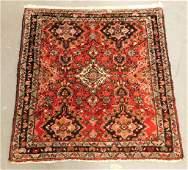 Persian Oriental Red Geometric Prayer Carpet Rug
