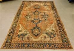 Persian Heriz Serapi Geometric Floral Carpet Rug