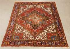 Persian Heriz Oriental Geometric Floral Carpet Rug