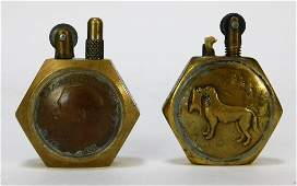 WWII Military Trench Art Identified Lighter Group
