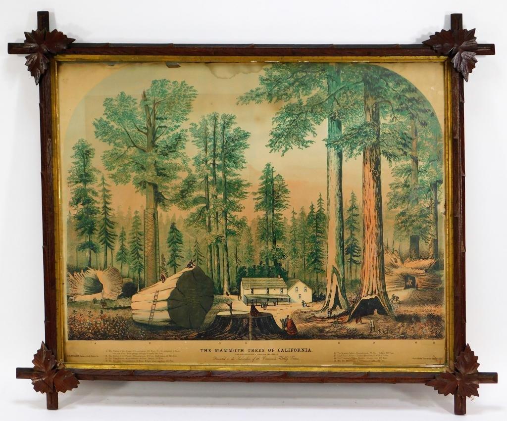 Times Steam Job Mammoth Trees of California Print