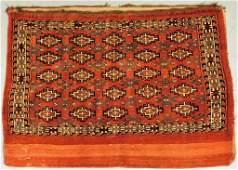 Antique Middle Eastern Bag Face Textile Rug