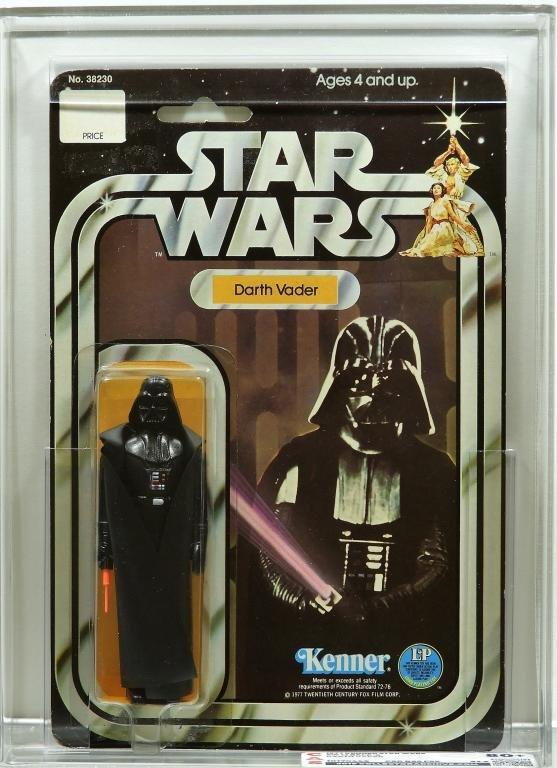 1977 Kenner Star Wars 12 Back Darth Vader CAS 80+