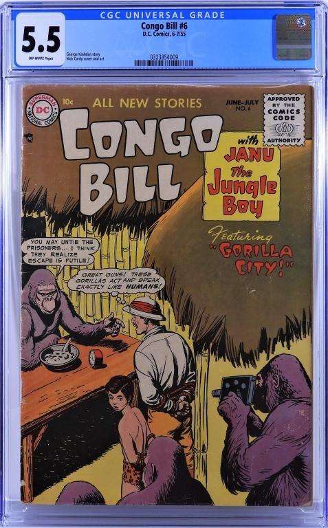 DC Comics Congo Bill #6 CGC 5.5