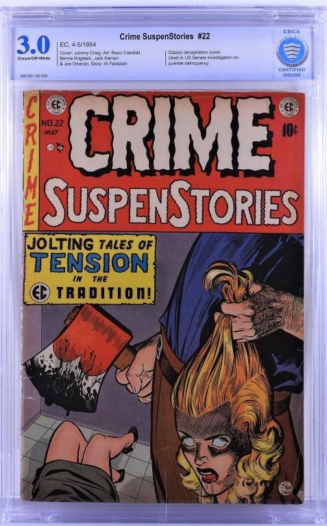 E.C. Comics Crime SuspenStories #22 CBCS 3.0