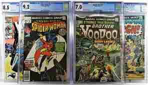 4 Marvel Comics Bronze Age SpiderWoman CGC Group