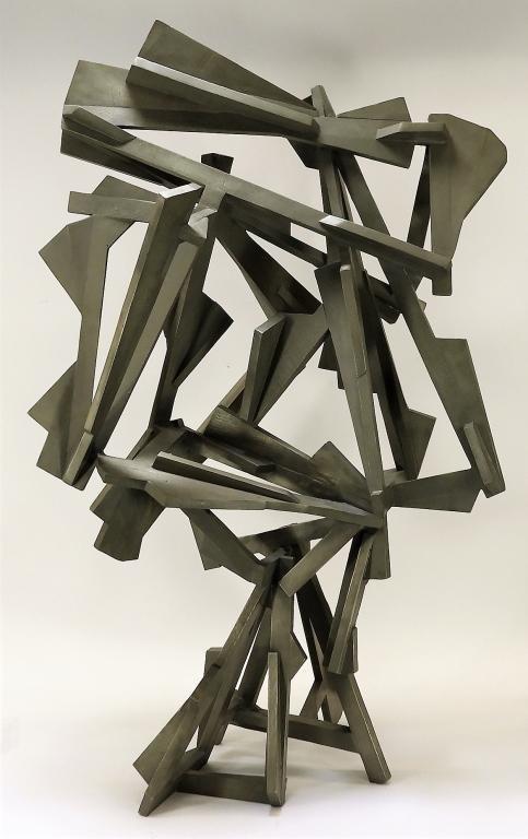 Joel Perlman Abstract Bronze Grey Spirit Sculpture