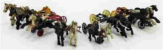 6PC Antique Cast Iron Horse Cart Attachments