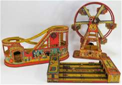 3PC J Chein and Henry Katz Tin Carnival Group